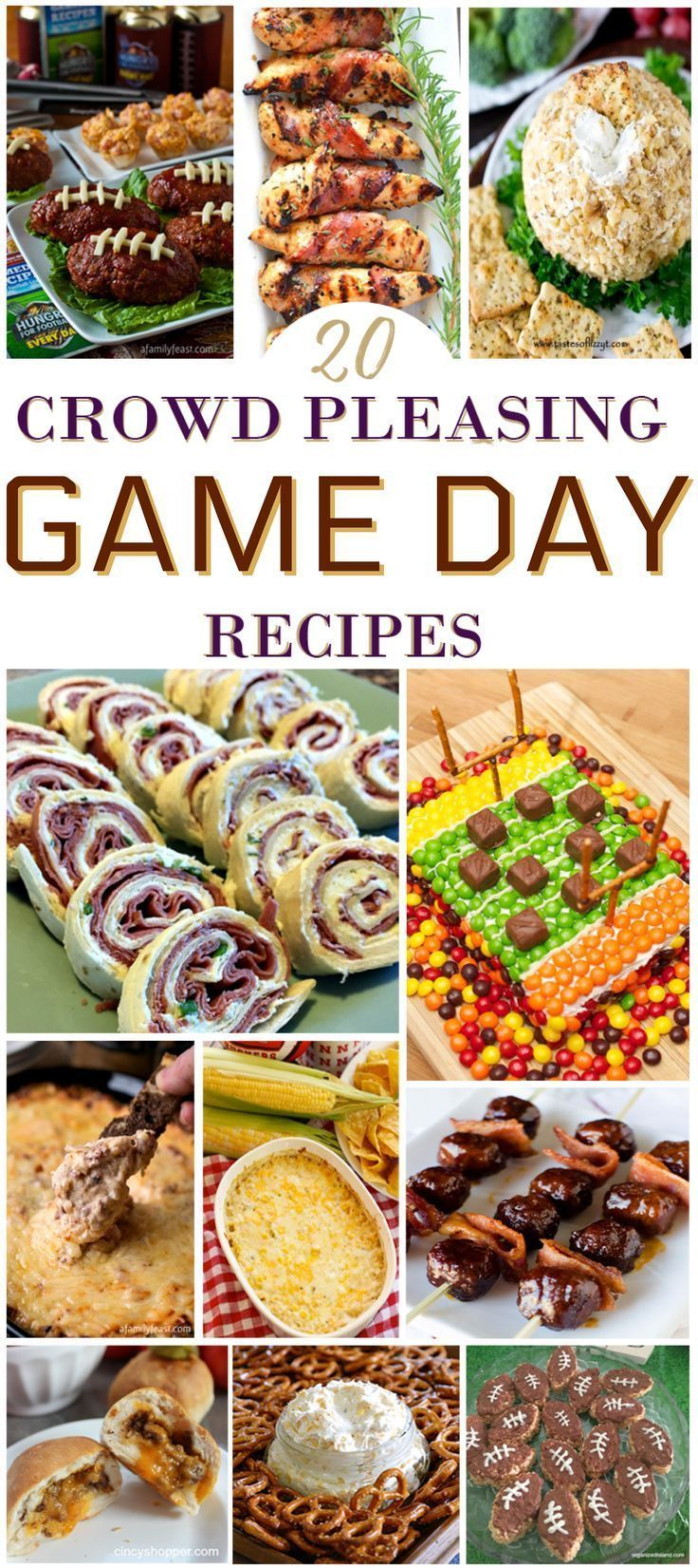 20 Crowd Pleasing Football Game Day Recipes Football Party Food
