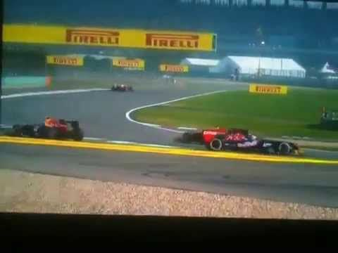 Chinese Grand Prix 2013: Mark Webber Accidents during Chinese Grand Prix 2013