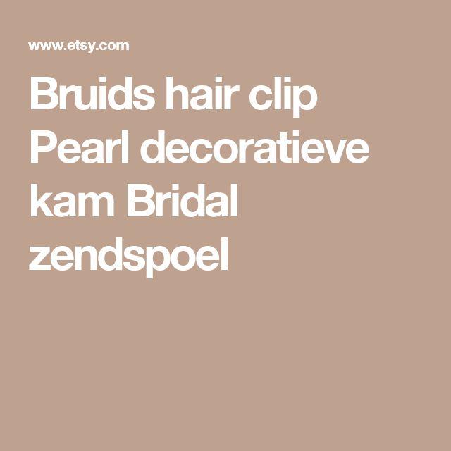 Bruids hair clip Pearl decoratieve kam Bridal zendspoel