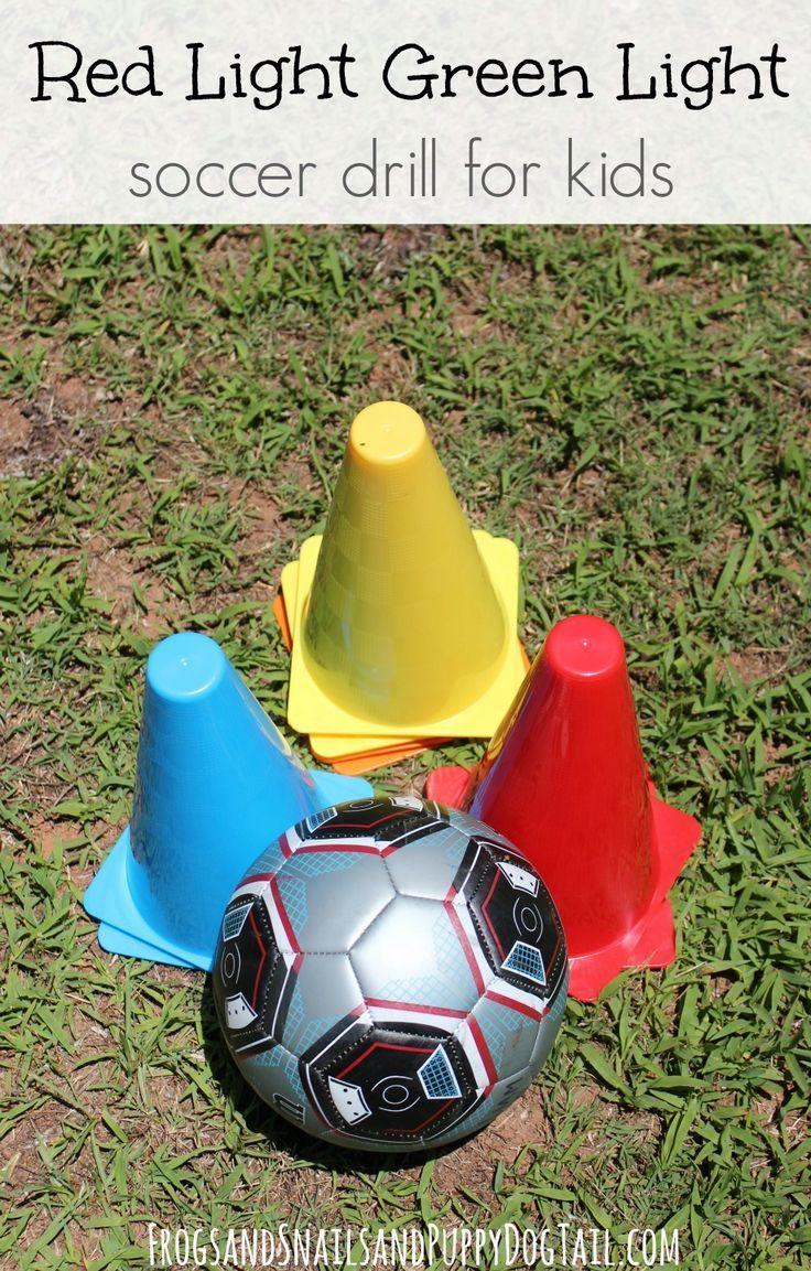 Red Light Green Light Soccer Drill