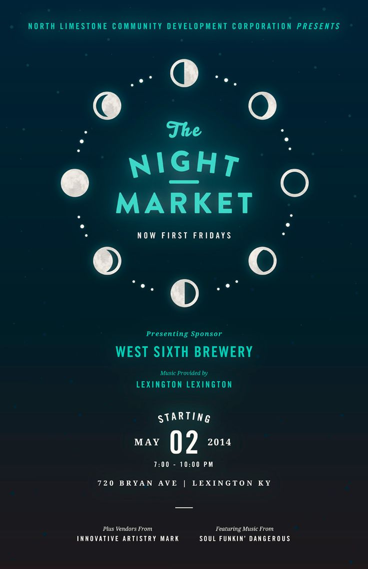 The Night Market #poster design. This is the second we've seen in a series and they always have a beautiful glow