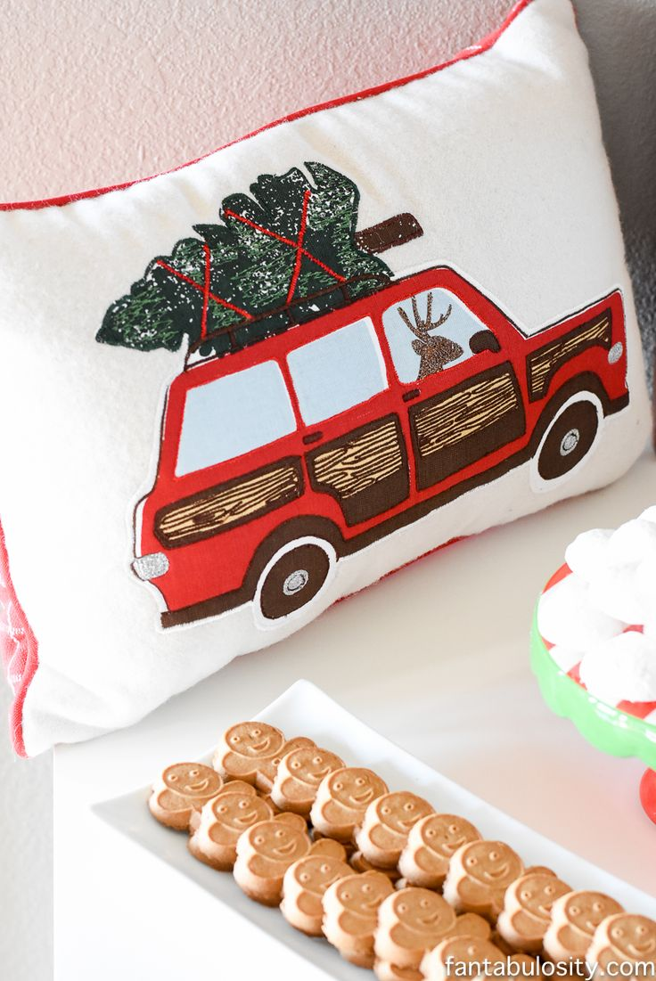 Vintage christmas party ideas truck with christmas tree