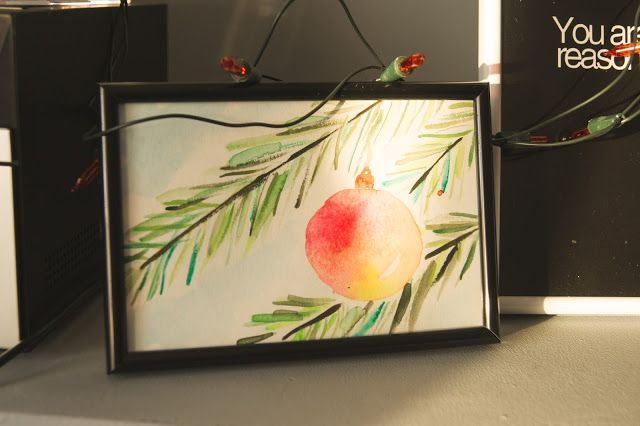 christmas watercolor decoration