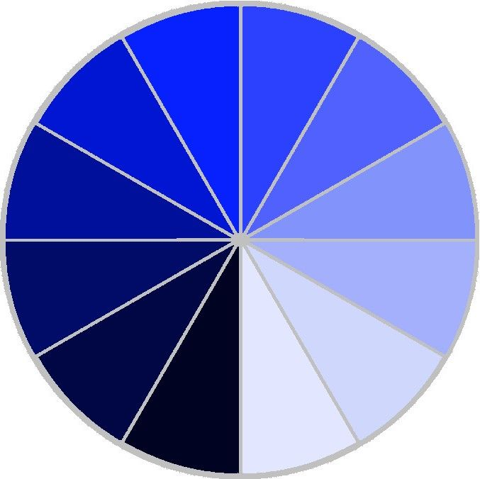Monochromatic color wheel 1
