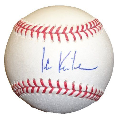 Ian Kinsler Autographed Official Major League Baseball W/PROOF, Picture of Ian Signing For Us, Texas Rangers, 2011 World Series by Rawlings. $89.99. This is an Ian Kinsler autographed Official Major League Baseball. This baseball was signed in a blue ball point pen. This item will come with a Certificate of Authenticity as well as a picture of the athlete/celebrity signing without the yellow bar across it. All of our items are obtained in person and are 100% authentic.