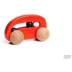 Czerwone, z kółkami i kuklami:)   Bajo 49310 - Wykonane z drewna bukowego autko Czerwone Autko z Kulkami zachwyci niejednego miłośnika motoryzacji.   Posiada opływowe kształty, bezpieczne dla dzieci, oraz kulki, które poruszają się wydają delikatne dźwięki.  Ile Kulek znajduje sięw samochodziku? Sprawdźcie sami:)  #bajo #zabawki #autko #niczchin #sklep #krakow