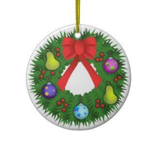 Christmas Wreath Christmas Tree Ornament