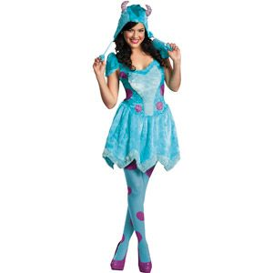 monsters university sassy sulley adult halloween costume with tights - Sully Halloween Costumes Monsters Inc