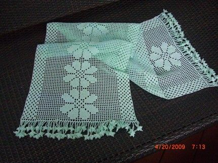 Easy Crochet Runner Patterns | TABLE RUNNER Crochet Pattern – Free Crochet Pattern Courtesy of