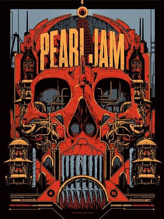 Ken Taylor's New Pearl Jam Poster  (Onsale Info)