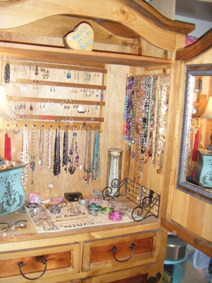 57 best My DIY Jewelry Armoire Ideas images on Pinterest Jewelry