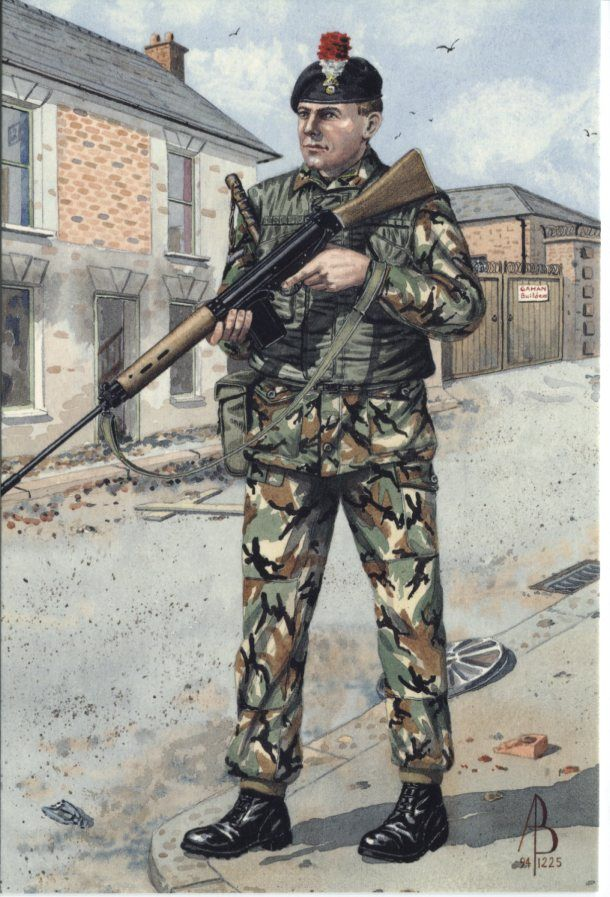 Alix Baker Postcard - AB21/2 Lance Corporal, 2nd Bn, Royal Regiment of Fusiliers (5th,6th, 7th, & 20th Foot), 1972 Belfast