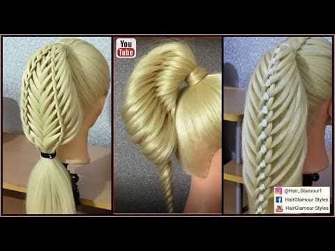3 Unique Ponytails Hairstyles Part 2 Hairglamour Styles Hair Tutorials Youtube Hair Styles Long Hair Styles Thick Hair Styles