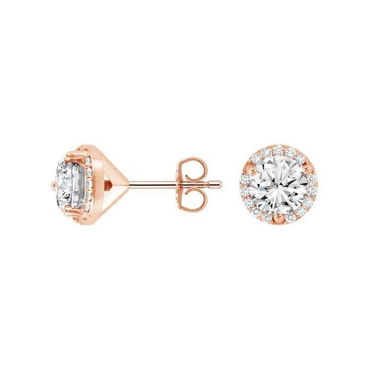 Angara Round Diamond Curved Bar Earrings in Pave Setting QJtGYS3