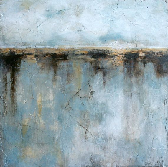 Original Abstract Painting Mixed Media Art Landscape Painting