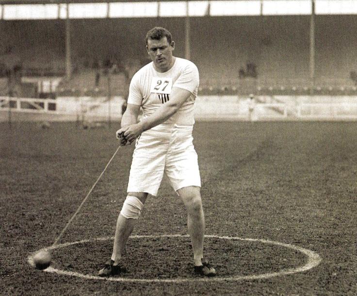 London Olympics 1908 - Mathew Mc Grath, USA, silver medallist in the Hammer event.