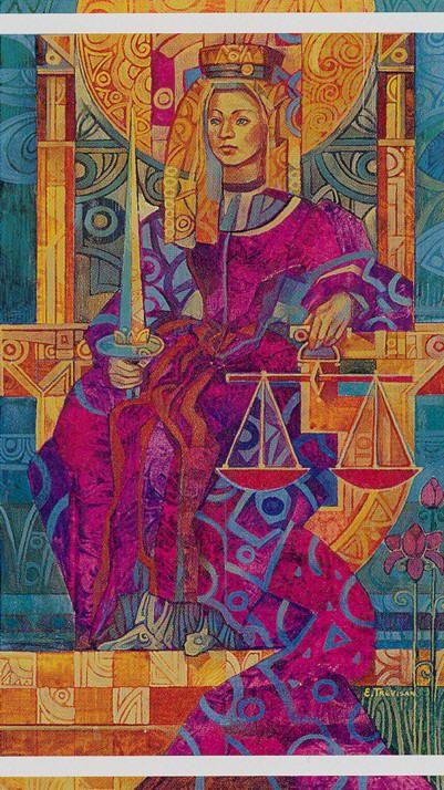 VIII - La justice - Tarot cristal par Elisabetta Trevisan