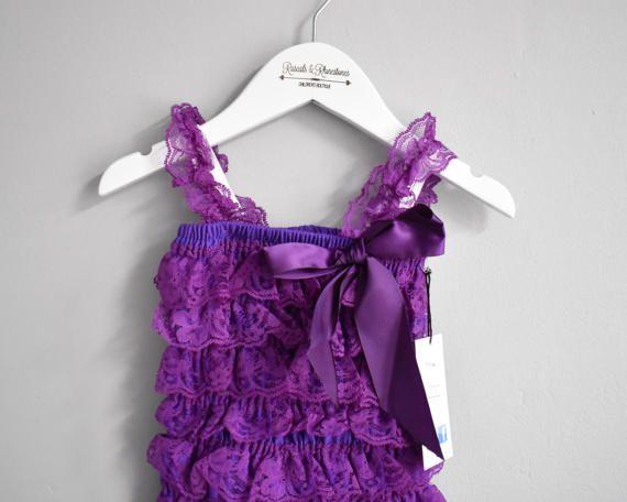 Baby Petti Romper Purple petti romper by RascalsRhinestones