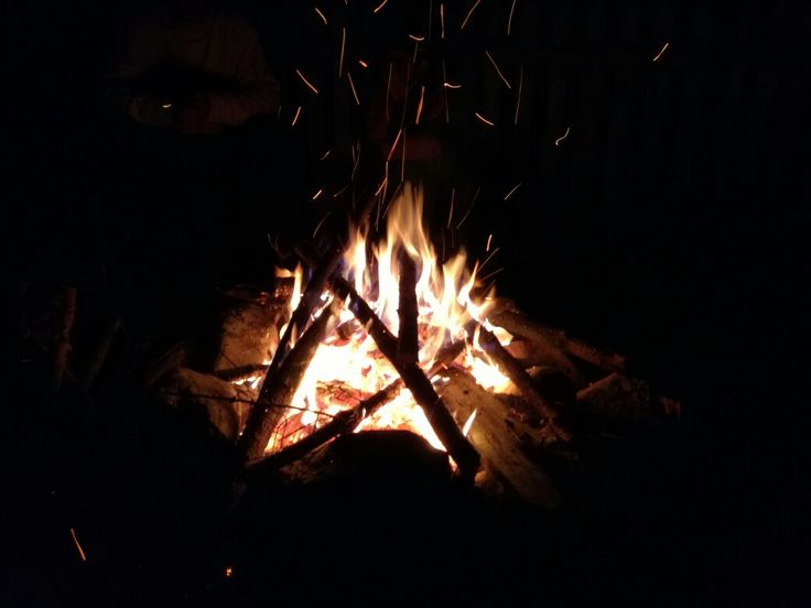 A fire in the middle of nowhere