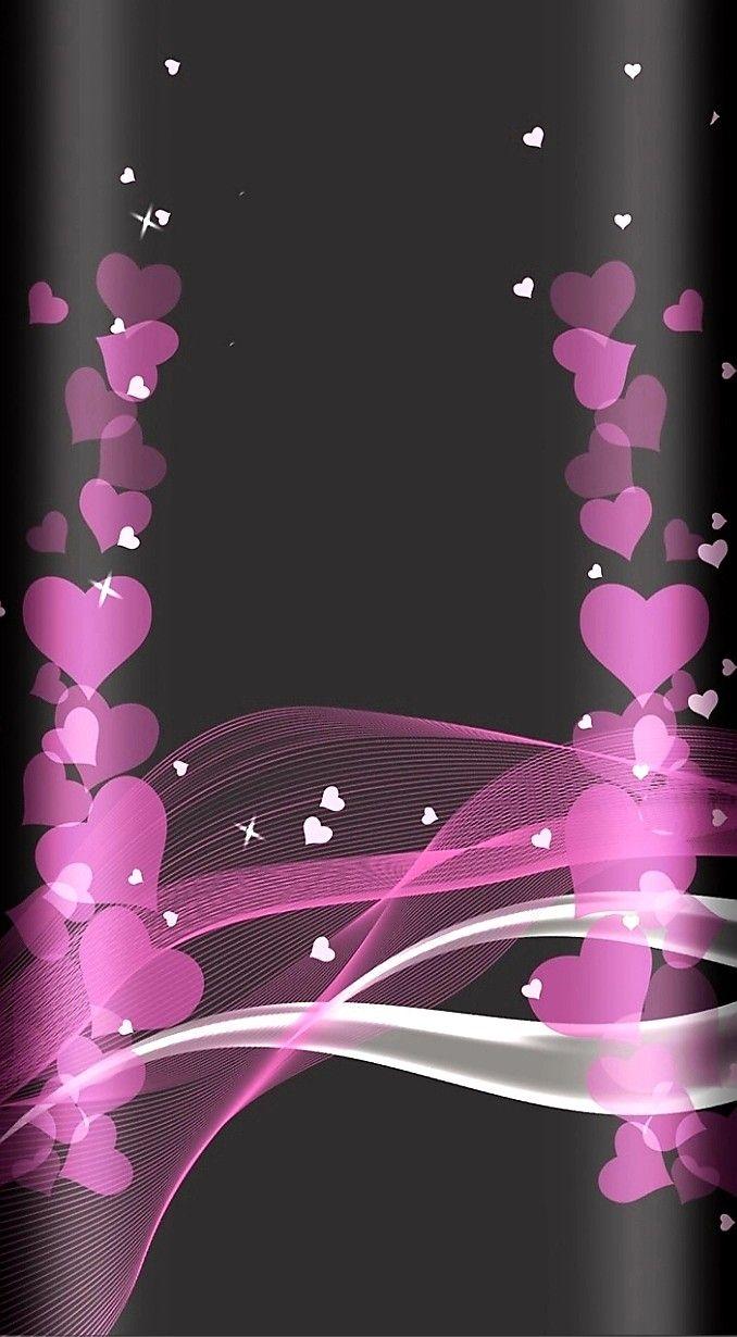 Corazon Rosa Fondos De Colores Mariposas Fondos De Pantalla