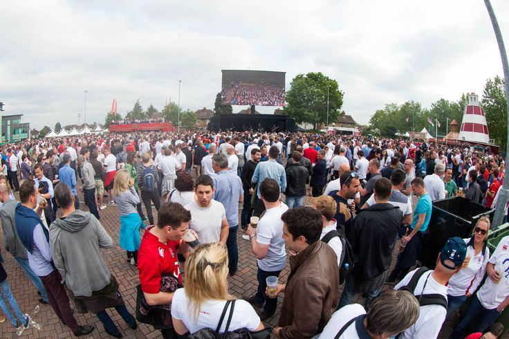 Such a crowd gathered to watch the bands play here at Twickenham Stadium on Match day