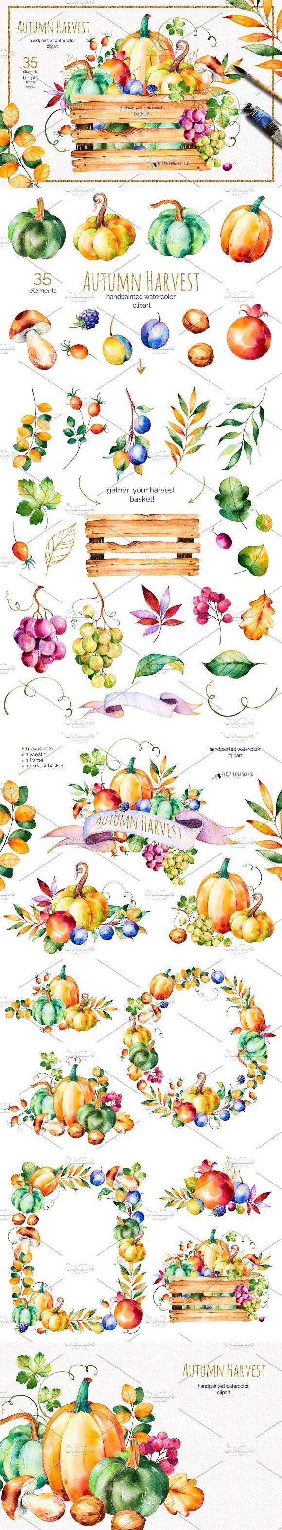 Autumn Harvest. Wedding Card Templates