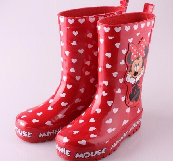 Aliexpress.com: Comprar Chicas botas de lluvia 2014 Nueva Primavera Marca Zapatos de los niños a prueba de agua para los niños de la muchacha Minnie goma Moda Rainboots Niño de De los zapatos fiable proveedores en ximin zhang's store