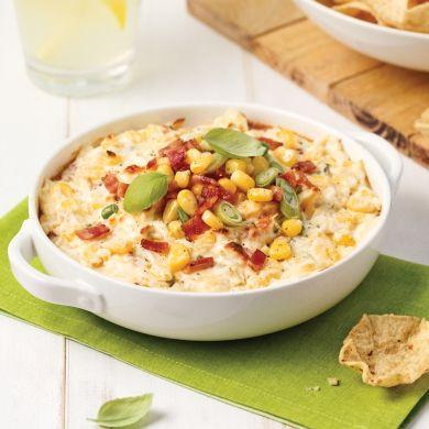 Trempette chaude au maïs, bacon et jalapeño - Recettes - Cuisine et nutrition - Pratico Pratique
