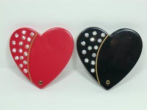 Charles J. Wahba - Heart Shaped Compact Mirror by Aliza Rose Accessories. $15.95