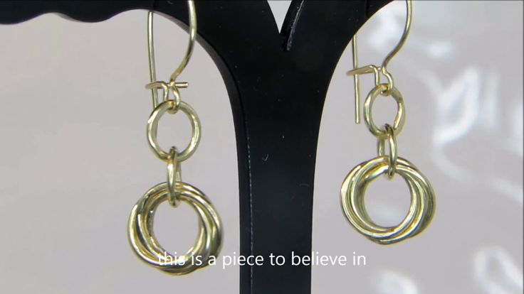 Hand Crafted 14K Gold Love knot Earrings at www.shaizyfinejewellery.com