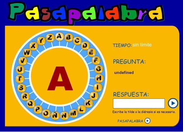 Juego divertido para trabajar el vocabulario y el alfabeto