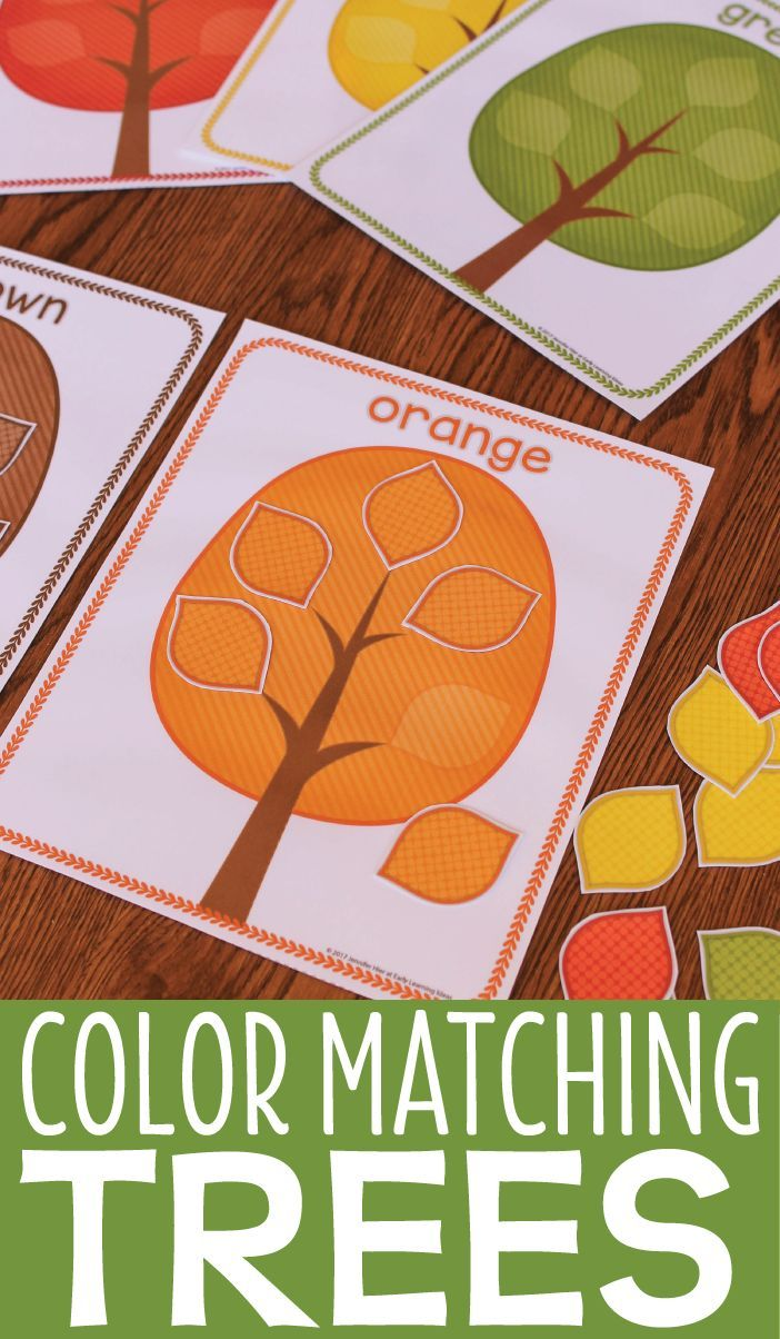 Teach colors with this interactive tree color activity.  A perfect supplement to your creative curriculum tree study, fall leaves theme, spring theme, October or November units of study in preschool, pre-k, prekinder, tot school or early intervention.  #preschool #totschool