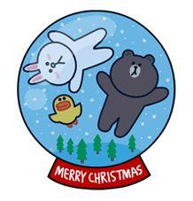 Free LINE X-mas Special Line Sticker - http://www.line-stickers.com/line-x-mas-special/