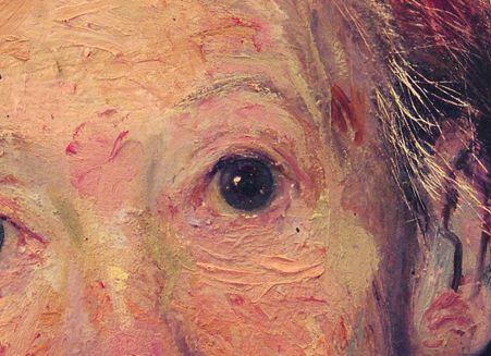 """Golucho, detaille de """" inacabado"""" óleo  sobre tabla"""