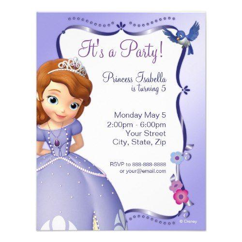 49 best Sofia Birthday images on Pinterest Birthdays, Birthday - fresh invitation for birthday party by email