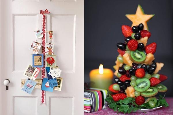 Decoração para a porta e árvore de frutas