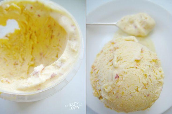 HAPPYFOOD - Персиковый пломбир500 гр персиков 3 желтка 100 гр сахара 500 мл сливок 33% сок лимона ванильный экстракт