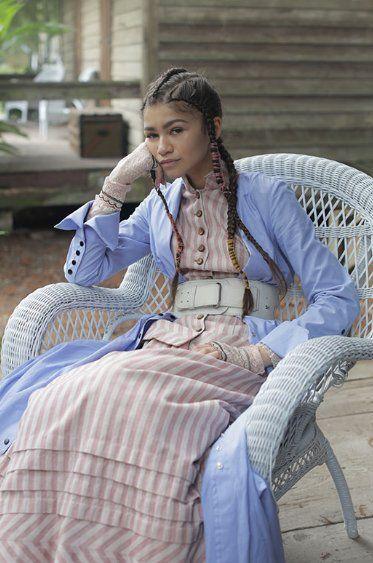 Zendaya on the set of Beyonce's 'Lemonade'