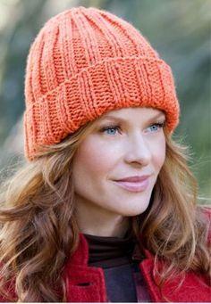 Padrão de tricô de chapéu iniciante