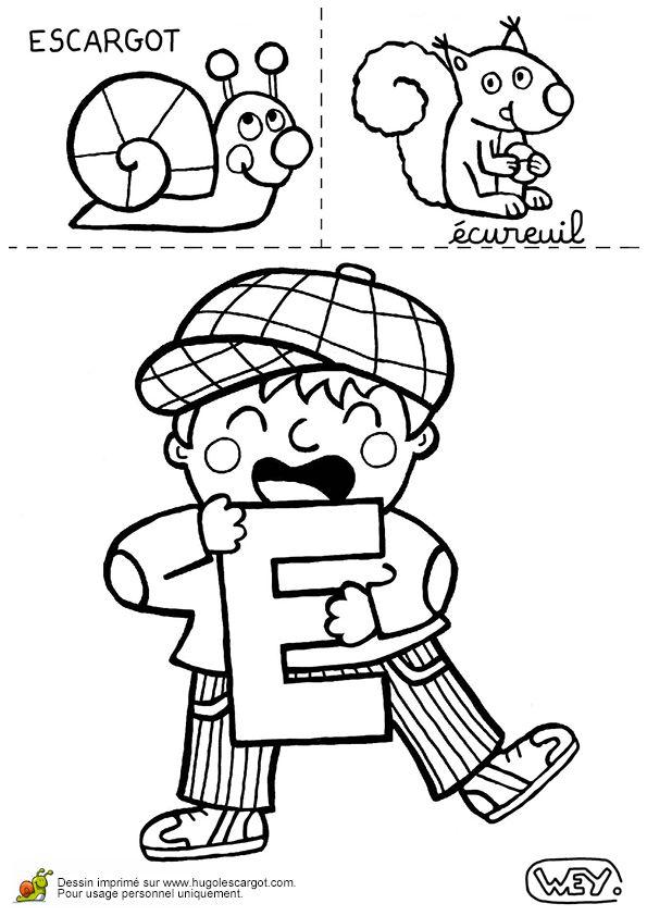 Lettre E Escargot Ecureuil, page 5 sur 26 sur HugoLescargot.com