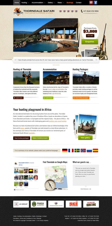 Website design for Thorndale Safari