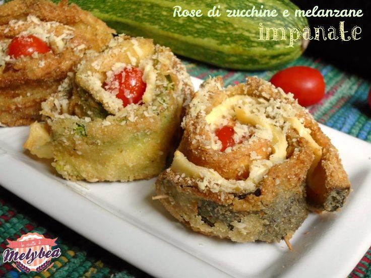 Rose+di+zucchine+e+melanzane+impanate