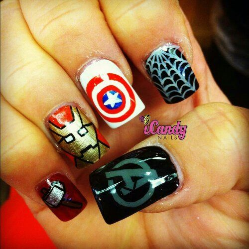 Fabulous Iron Man Inspired Nails