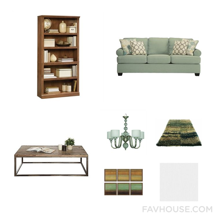 House Ensemble Including Sauder Bookcase Fabric Sofa Accent Table And Alabaster Lamp From November 2016 #home #decor
