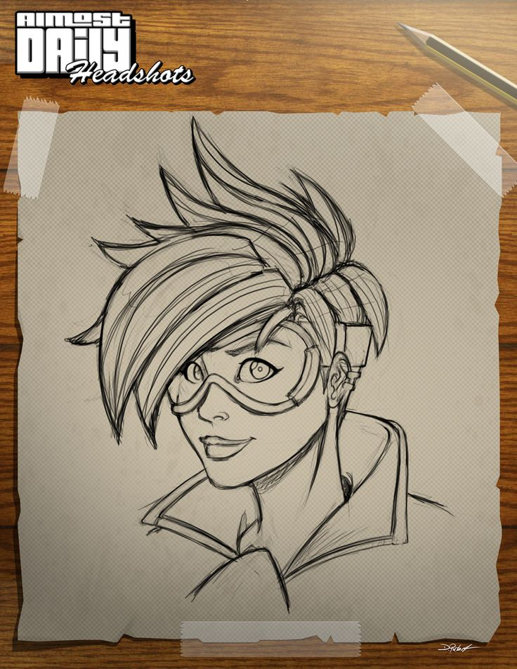 The first of my new Almost Daily Headshot. This picture is with Tracer from Overwatch.