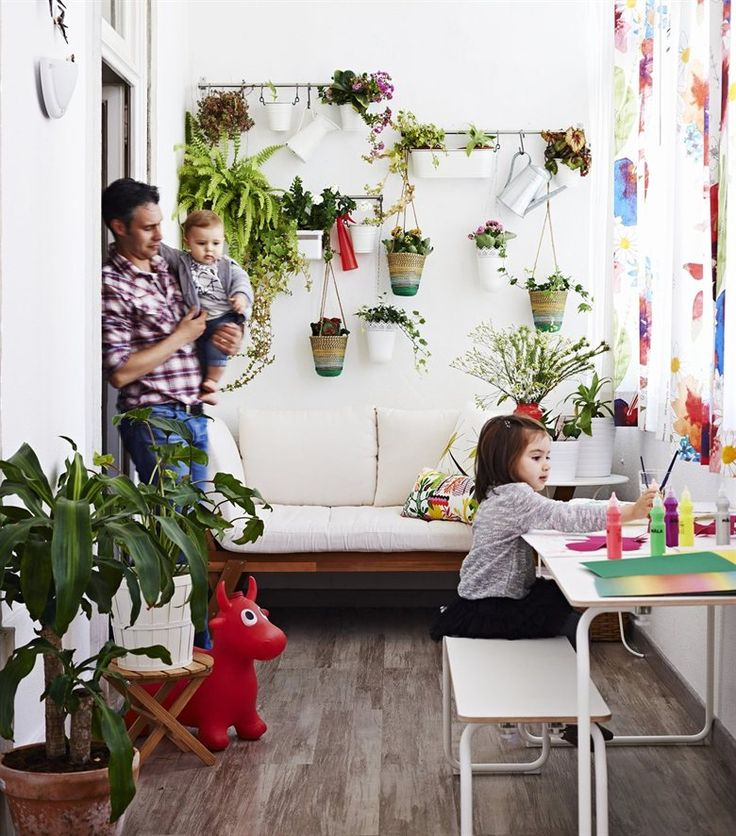 Teresa 39 s winter garden use fintorp system to hang herbs for Indoor wall planters ikea