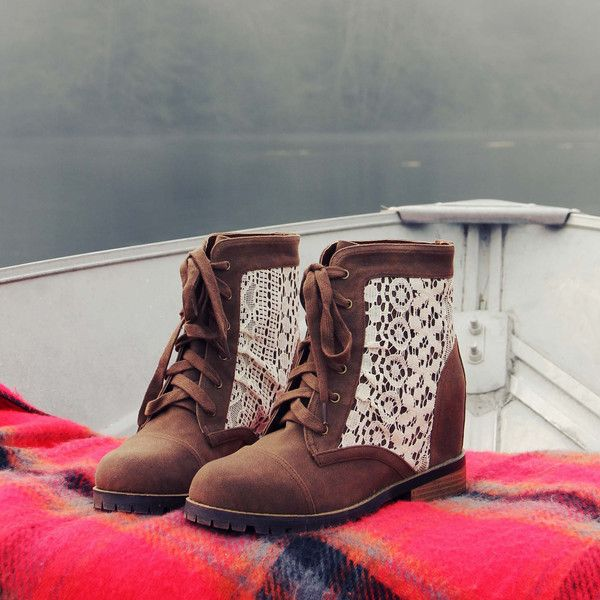 Misty Lake Lace Boots, Sweet & Rugged boots from Spool No.72 | Spool No.72