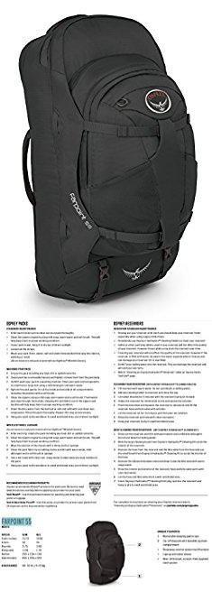 Osprey Farpoint 55 Backpack. Osprey Packs 10000289  Farpoint 55 Travel Backpack, Volcanic Grey, Medium/Large.  #osprey #farpoint #55 #backpack #ospreyfarpoint #farpoint55 #55backpack