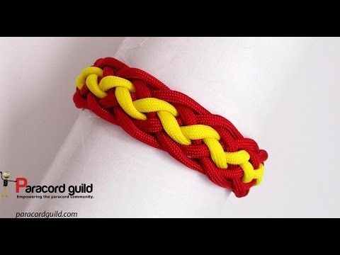 Pineapple knot paracord bracelet - YouTube