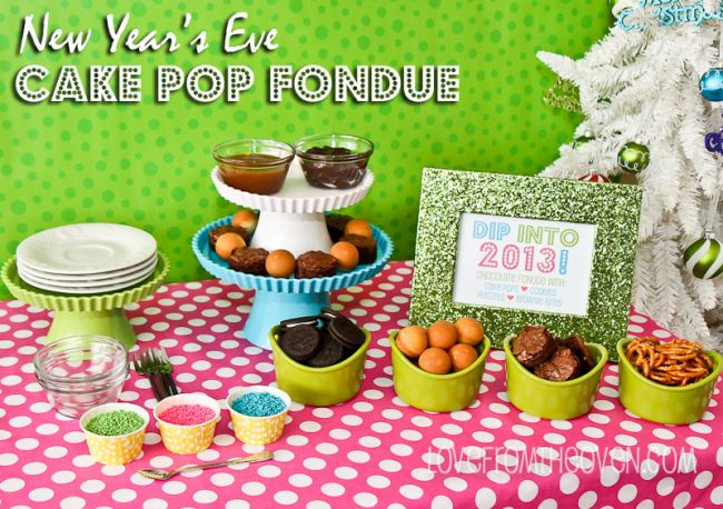 New Year's Eve Luxe For Less Party Fun Cake Pop Fondue & A Sam's Club Giveaway #lovefrpmtheoven